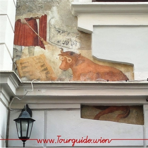1010 - Hauszeichen 'Kuh am Brett'